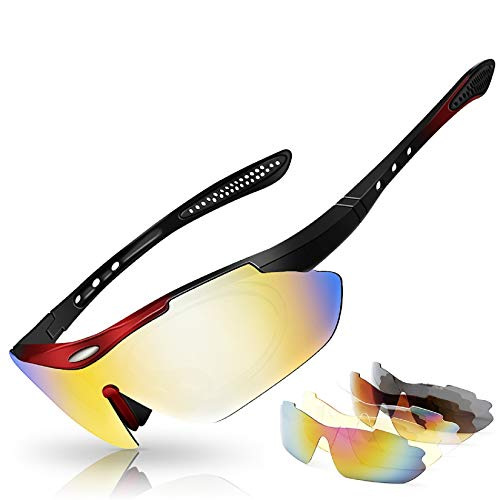 Polarized Sport Sunglasses for Men and Women,Ideal for Driving Fishing Cycling and Running, Protection