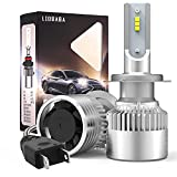 LED Headlight Bulbs, LIOBABA Car LED Headlight Conversion Kit, Hi/Low Beam LED Headlights for H11//H7/H8/H9/H16, Halogen Replacement, Quick Installation, Pack of 2 (9005/HB3) (H7)