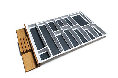 Generic Lana Solution Besteckeinsatz für 90er Schublade, 462 mm x 812 mm, weiß