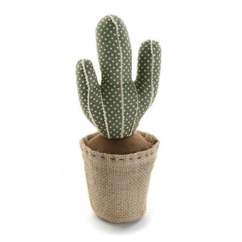 Versa Sujetapuertas con diseño Cactus, Madera, Verde, 12.