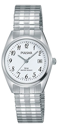 Pulsar dames analoog kwarts horloge met roestvrij stalen armband PH7443X1
