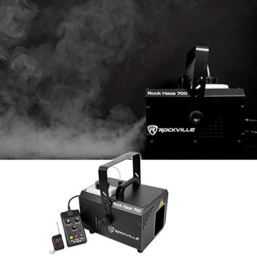 Rockville ROCKHAZE 700 CFM DMX Haze Machine Water Based DJ/Club Hazer+(2) Remotes