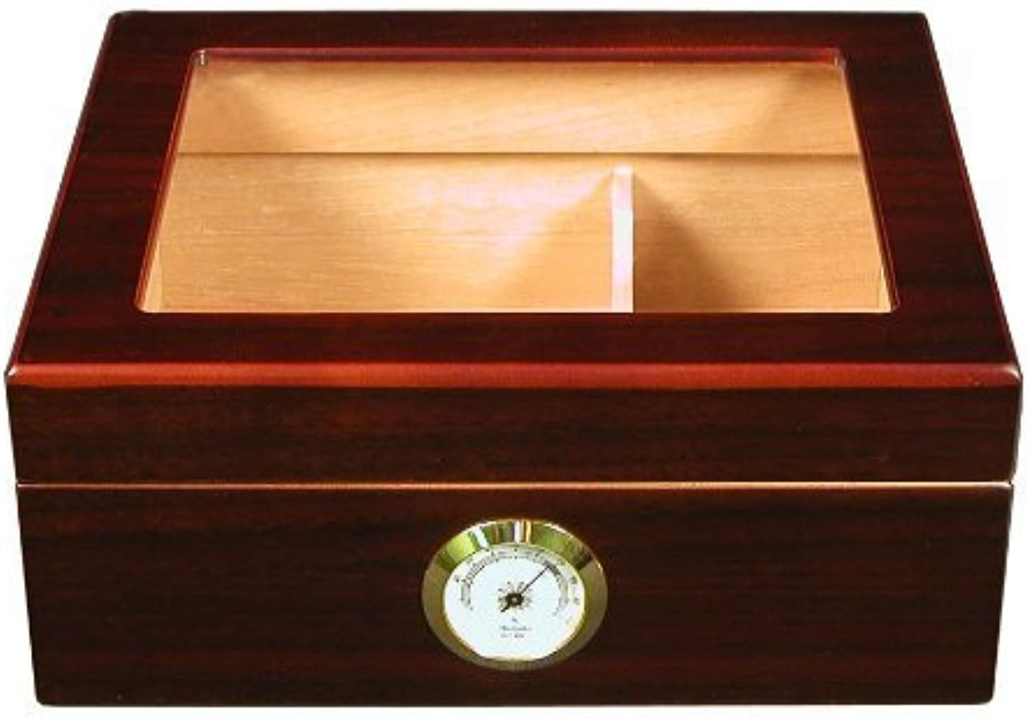 Quality Importers Desktop Humidor, Capri-Glasstop by Quality Importers