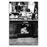 John F Kennedy Poster, dekoratives Gemälde, Leinwand,