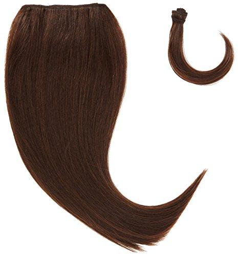 chear soyeux cheveux Yaki Raides trame Extension de cheveux humains avec de mélange tissage, numéro 4, Taille M, marron foncé 35,6 cm