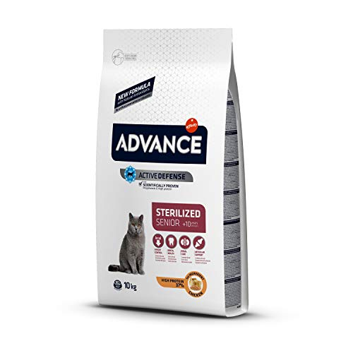 ADVANCE Senior - Pienso para Gatos Esterilizados Senior - 10 kg