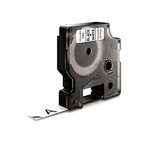 DYMO 12mm D1 Permanent polyester tape - Cintas para impresoras de etiquetas (D1, Poliéster, 1,2 cm, 5,5m, Caja, 1,9 cm)