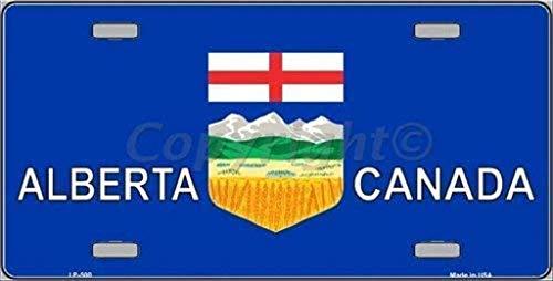 Dom576son Kennzeichenrahmen, Alberta Canada, Nummernschild, Aluminium, 15,2 x 30,5 cm