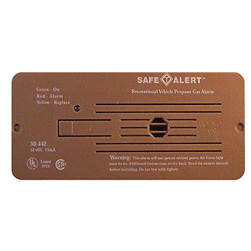 Safe T Alert 30-442-P-BR Classic Propane/LP Gas Alarm - 12V, 30 Series Flush Mount, Brown