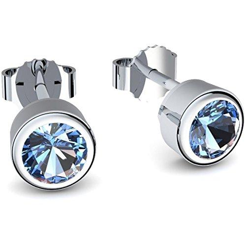 Ohrstecker Blautopas (***Echte Blautopase***) Ohrringe Blautopas - inkl. Luxusetui + - Silberohrstecker Silber Ohrschmuck Silberohrringe Ohrstecker blauer Stein Ohrringe blau FF47 SS925BTFA