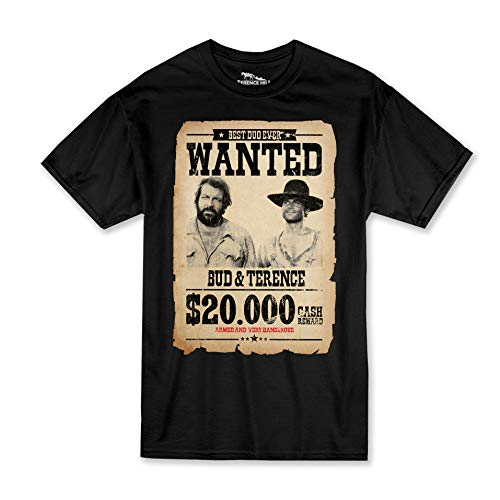 Terence Hill Bud Spencer - Wanted $20.000 - Terence & Bud (schwarz) (XXL)
