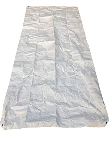 Ultralight Tyvek Ground Cloth Tent Footprint with Grommeted Corners 4.5ft x 8ft for Backpacking or Camping