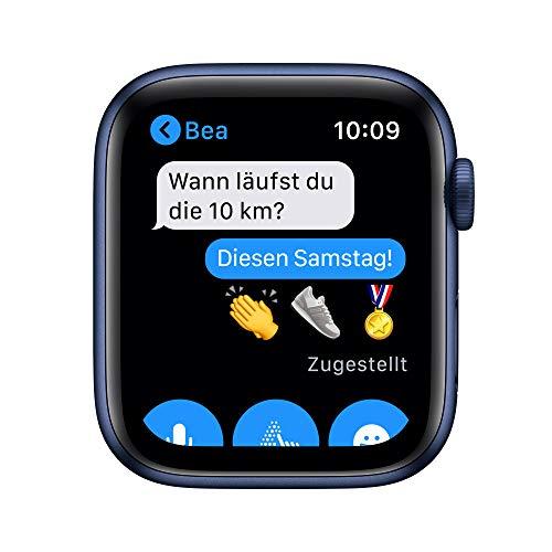 AppleWatch Series6 (GPS+ Cellular, 44mm) Aluminiumgehäuse Blau, Sportarmband Dunkelmarine