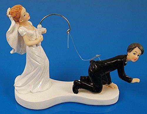 SiDeSo® Tortenaufsatz Hochzeit lustig Angel Tortendeko Brautpaar Tortenfigur