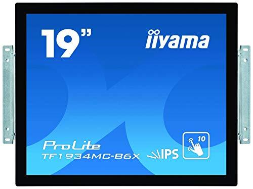 "iiyama Prolite TF1934MC-B6X - Écran LED - 19"" - Cadre Ouvert - écran Tactile - 1280 x 1024 - IPS - 350 CD/m² - 1000:1-14 ms - HDMI, VGA, DisplayPort - Noir, Mat"
