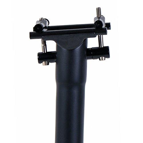 ELITA ONE Tija de sillín de Bicicleta Completa de Fibra de Carbono MTB/Bicicleta de Carretera Ciclismo Tija de sillín de Carbono Negro Mate 27.2/30.8/31.6mm (UD Negro Mate, Ø30.8×350mm)