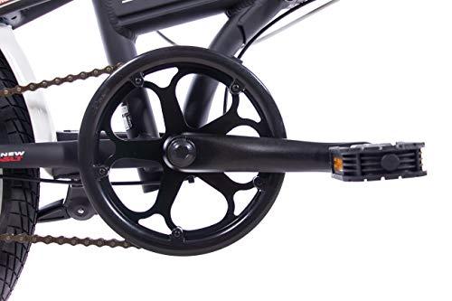 CHRISSON 20 Zoll Faltrad Klapprad - Foldrider 3.0 schwarz - Faltfahrrad für Herren und Damen - 20 Zoll klappbares Fahrrad mit 7 Gang Shimano Nexus Nabenschaltung - Folding City Bike - 5
