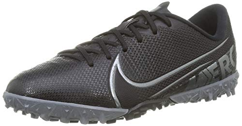 Nike Jungen Vapor 13 Academy TF Fußballschuhe, Schwarz (Black/MTLC Cool Grey-Cool Grey 001), 35.5 EU