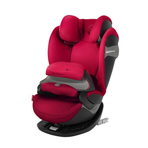Cybex Gold 2-in-1 Kinder-Autositz Pallas S-Fix, Für Autos mit und ohne ISOFIX, Gruppe 1/2/3 (9-36 kg), Ab ca. 9 Monate bis ca. 12 Jahre, Rebel Red