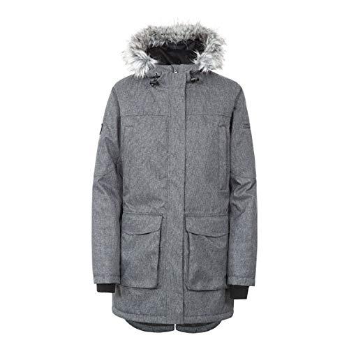 Trespass Thundery Waterproof Warm Womens Parka Jacket Winter Long Hooded Coat Black Silver Grey