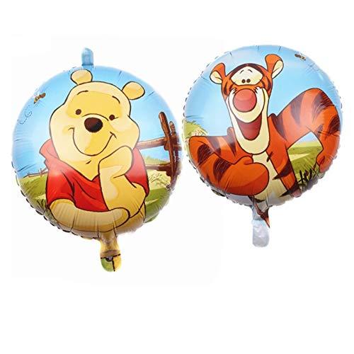 JSJJARF Luftballons 1Set Winnie The Pooh Cartoon Folie Ballons Happy Birthday Decorations Air Balloon Dekoration Kinder 32
