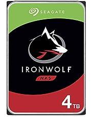 "Seagate IronWolf, 4TB, NAS, Disco duro interno, HDD, CMR 3,5"" SATA 6 Gb/s, 5900 r.p.m., caché de 64 MB para almacenamiento conectado a red RAID (ST4000VN008)"
