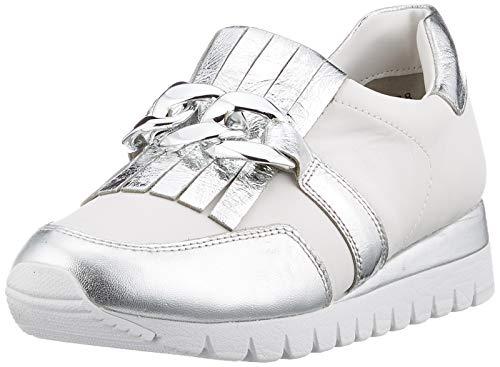 CAPRICE Damen Ibiza Slip On Sneaker, Silber (Silver/White 930), 39 EU