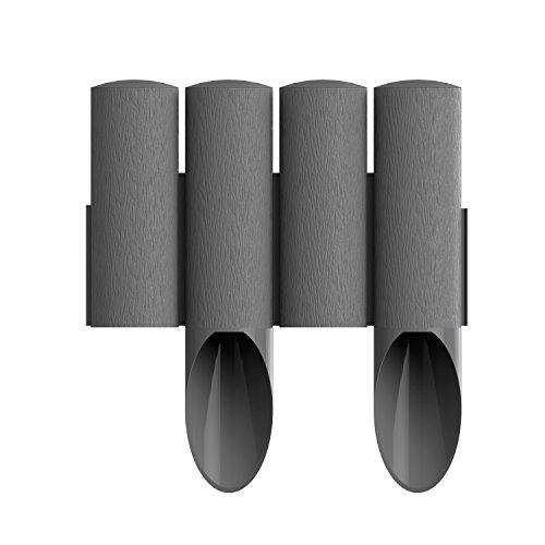 Cellfast Standard Gartenpalisade Rasenkante Palisade Beetumrandung (2,3m, Graphit)