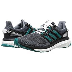 adidas Energy Boost 3 W, Zapatillas de Deporte para Mujer, Verde/Negro (Gris/Eqtver/Negbas), 36 2/3 EU