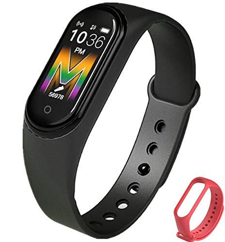 Smartwatch Fitness Tracker Watch Hombres Mujeres Smartwatch Reloj de Pulsera Monitoreo del Ritmo cardíaco Podómetro Smartband Rastreador de Actividad Deportiva (Negro)
