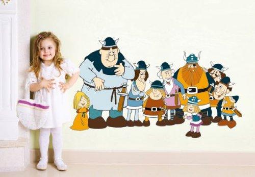 wall-art Wandtattoo - Wickie und die starken Männer - Größe: 60x35 cm
