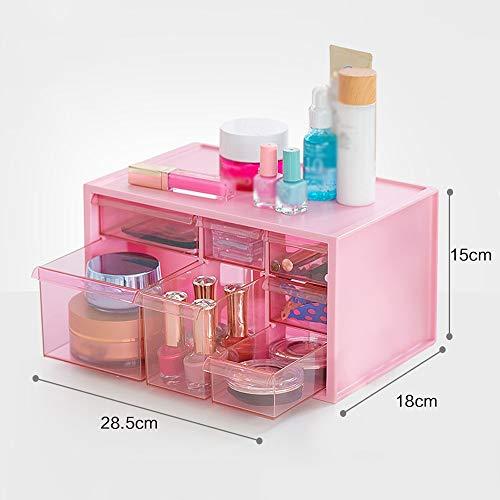 Preisvergleich Produktbild LCNINGSNH Desktop Kosmetik Aufbewahrungsbox Aufbewahrungsbox / Büro Schublade Finishing Box Haushalt Kunststoff Aufbewahrungsbox (Farbe : D)