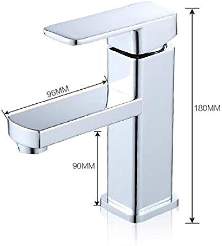LHbox Einzelne Bohrung Becken Mischbatterien Sitzen im Kalten Wasser Becken Mixer Konsole Voll Kupfer Waschbecken Badezimmer Waschbecken