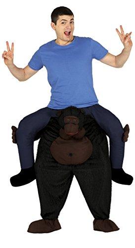 Guirca- Costume con Scimmia Gorilla da Cavalcare e Imbottito per Adulti, Multicolore, L, 88233