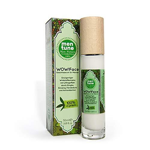 MenTune Wow!Face Gesichtscreme Falten-Stopp Feuchtigkeitspflege Gesichtscreme für Männer mit hochdosierter Anti-Aging-Wirkung sofortiger Anti-Falten-Effekt (1x 50 ml)