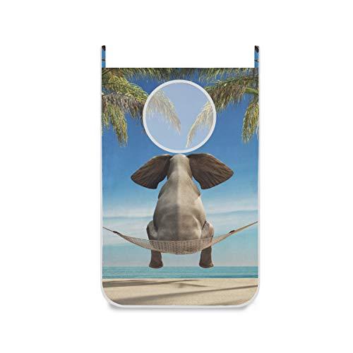 XiangHeFu deur-hangende wasmand, grote stoffen zak, olifant, die het strandmand-opvouwbare huis zit