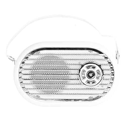 Dpofirs Q6 Mini Altavoz Portátil Bluetooth, Altavoz Multimedia de Audio de Escritorio Inteligente de 3 W, Alcance Inalámbrico de 32.8 pies, Micrófono Integrado, Reducción de Ruido, Voz HD(Blanco)