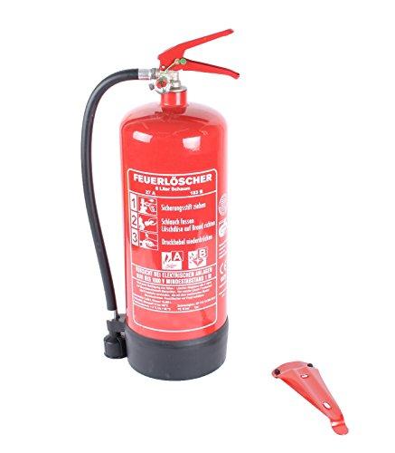 6L-Schaumfeuerlöscher 9 LE Brandklasse AB Halterung Manometer (GÖS6M-BIO-DIN Instandhaltungsnachweis Feuerlöscher-Tauschsystem