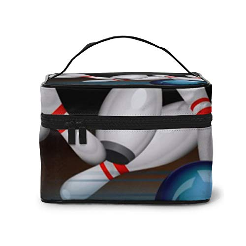 Bowling Travel Makeup Costmetic Bag Bürobürstenetui