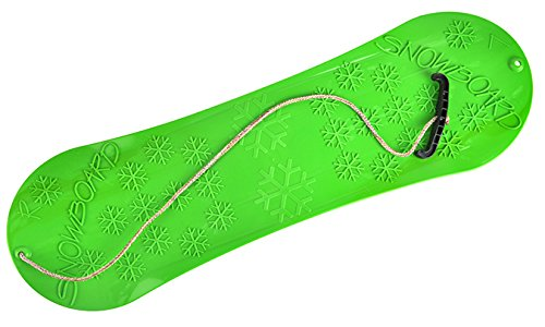 MARMAT Snowboard FÜR Kinder Schlitten Board 77cm Kunststoff mit Seilgriff Plastik (Grün)