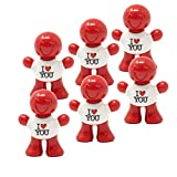 Stoner Car Care Little Joe 96410-6PK I Love You New Car Scent Car Air Freshener Clips to A/C Air Vent Uses Alcohol-Free Fragrance Oil is Non-Hazardous and Non-Toxic Plastic, Pack of 6, red
