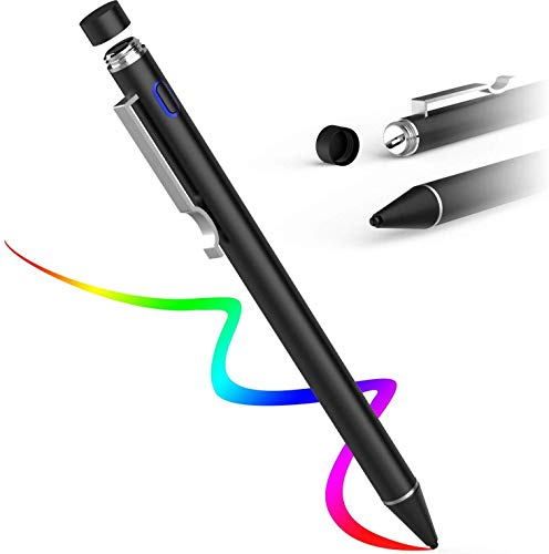 AWAVO Capacitive Stylus Pen for Apple Pencil Touch Screens, Rechargeable Styli with 1.6mm Fine Plastic Nib, Compatible with Apple iPad Pro/iPad 2018/iPhone/Samsung iOS & Android Tablet