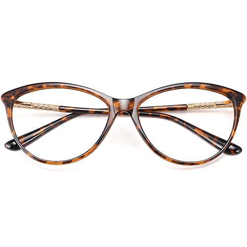 Blue Light Blocking Glasses for Computer Gaming Reading Women Nerd Eyeglasses Frame-Clear Lens Anti Blue Ray Hev Tortoise Leopard Amber