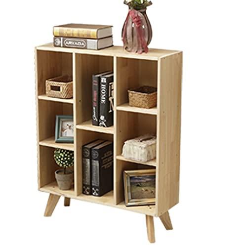 jiji libreros Estante de Madera Maciza Estante Multifuncional, estilografía con Estilo, gabinete de exhibición de Almacenamiento con Patas de gabinete (Tres Estilos) (tamaño : A) 🔥