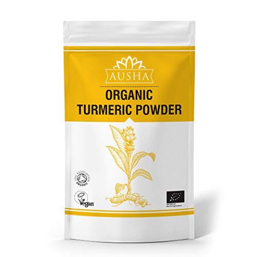 AUSHA Organic Turmeric Powder 2kg (High in Curcumin 4% - Certified Organic by Soil Association,Anti-Inflammatory,Immunity,Anti-Oxidants,Joints)