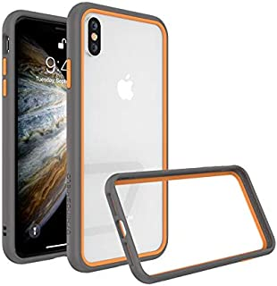Protective Frame from RhinoShield CrashGuard NX for iPhone XS grey with orange