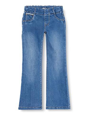NAME IT Mädchen NMFPOLLY DNMATORAS 2467 Boot Legging Jeans, Medium Blue Denim, 98
