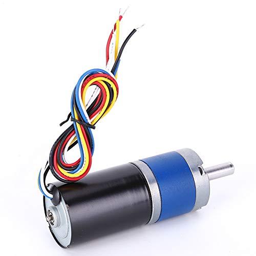 Motor de reducción de velocidad micro, reductor de engranaje helicoidal Motor CC sin escobillas Motor de rueda dentada de metal eléctrico 36MM(60RPM)