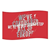 FC Liverpool Never Gonna Stop Fahne 150x90cm (one Size, red)