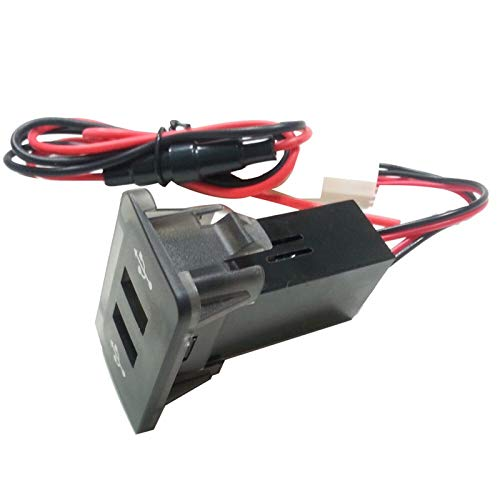 KASILU Jidian48 Interruptores de automóviles Cargador USB Auto Relés Dasuario Panel Doble USB Puerto Cargador Toma de Corriente para VW Golf 4# BL4 Reemplazo (Color : AS Show)